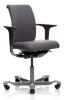 Bürostuhl HAG H05 5300 mit vorderseitig gepolsterter, mittlerer Rückenlehne und ohne Kopfstütze
