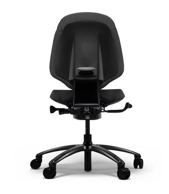 b rostuhl rh mereo 200 schwarz mit mittlerer r ckenlehne. Black Bedroom Furniture Sets. Home Design Ideas